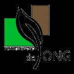 Eugene de Jong is tuinontwerper in Noordwijkerhout, in de Bollenstreek. Hij heeft een opleiding tuinontwerpen gevolgd in Boskoop. De groene en bruine kleuren van dit logo staan voor zijn groene vingers.