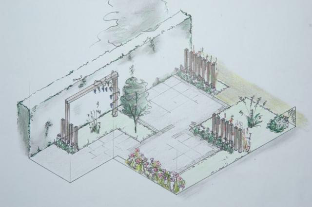 Een ontwerp van een achtertuin door De Jong Tuinontwerp, Eugene de Jong uit Noordwijkerhout