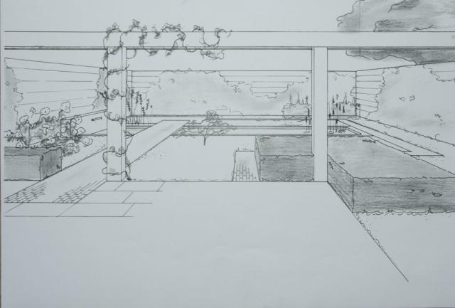 Een ontwerp van een tuin door De Jong Tuinontwerp, Eugene de Jong uit Noordwijkerhout